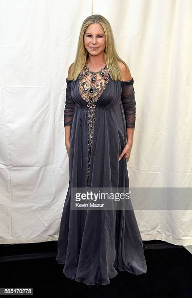 Barbra Streisand poses backstage during the tour opener for Barbra The Music The Mem'ries The Magic at Staples Center on August 2 2016 in Los Angeles...
