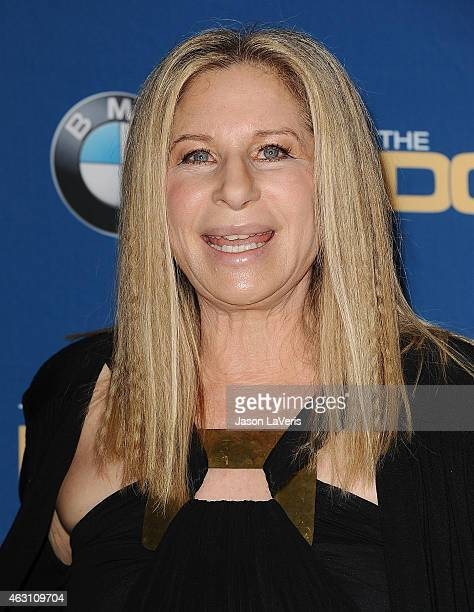 Barbra Streisand poses in the press room at the 67th annual Directors Guild of America Awards at the Hyatt Regency Century Plaza on February 7 2015...