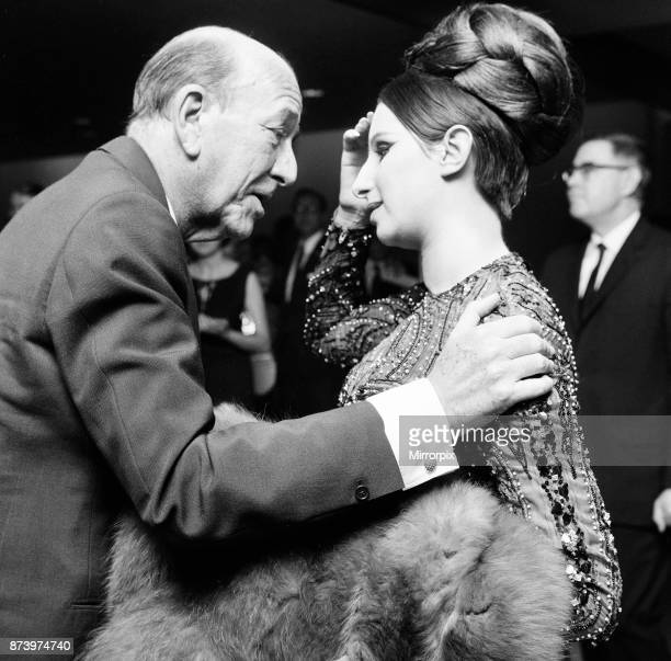 Barbra Streisand, Reception at American Embassy, after benefit performance at the embassy theatre, Grosvenor Square, London, Sunday 12th June 1966....