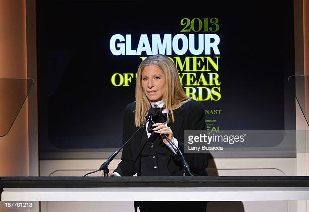 Barbra Streisand speaks onstage at Glamour's 23rd annual Women of the Year awards on November 11 2013 in New York City