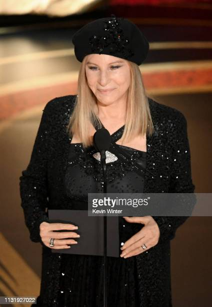 Barbra Streisand speaks onstage during the 91st Annual Academy Awards at Dolby Theatre on February 24 2019 in Hollywood California