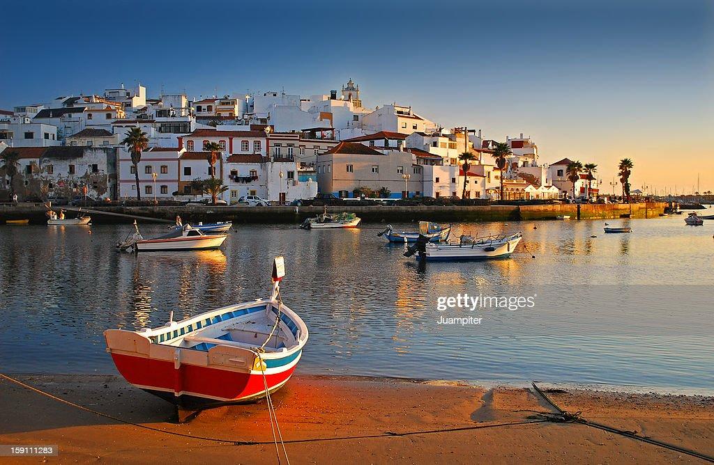 Barcas en Ferragudo : Stock Photo