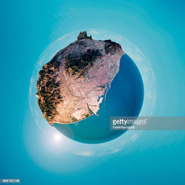 Panorama Barcelone 360 degrés sphère 3D Little Planet