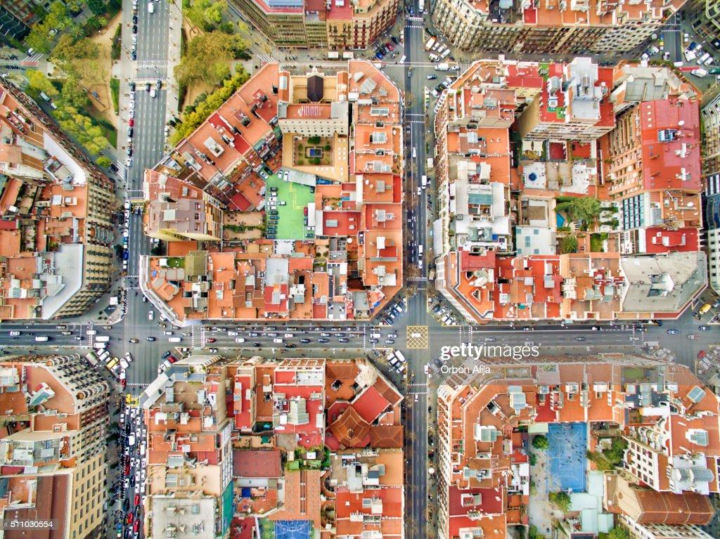 Barcelona aerial photo : Stock Photo