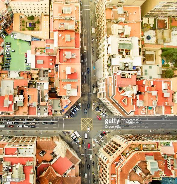 photo aérienne de Barcelone