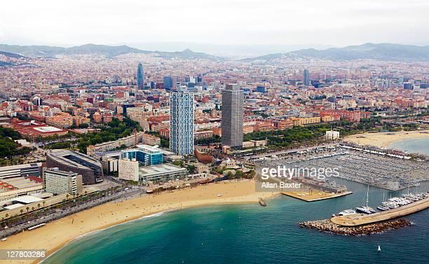 Barcelona ariel view