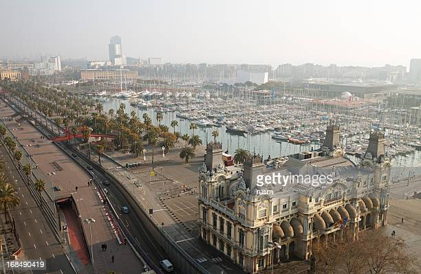 barcelona at morning - boulevard stock pictures, royalty-free photos & images