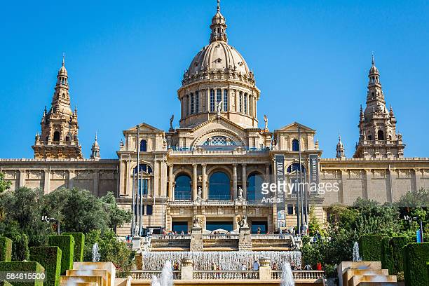 Barcelona August 2014 The MNAC National Museum of Catalan Visual Art is Barcelona's biggest museum The museum is especially notable for its...