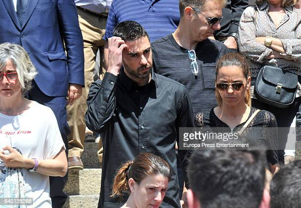 Barcelona basketball player Juan Carlos Navarro attends the funeral for Tona Vives mother of the Minnesota Timberwolves basketball player Ricky Rubio...