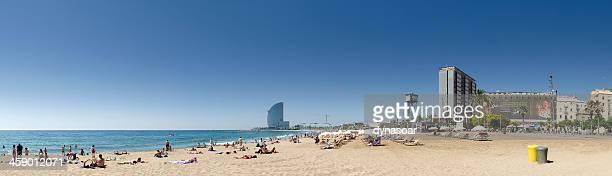 Barcelona beach panorama, Spain