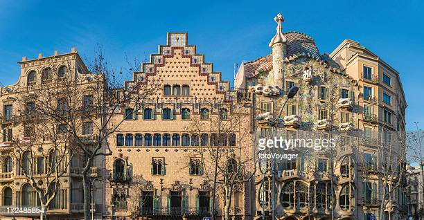 Barcelona Casa Batllo Passeig de Gracia Gaudi Häuser panorama Spanien