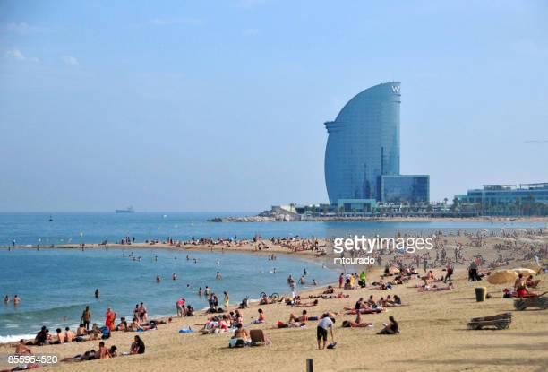 Barcelona, Cataluña: playa y hotel W Barcelona