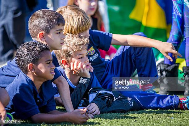 Barcelona Catalonia Spain 2015 April 1 FC Barcelona organizes from march 30 to april 2 the IV International Championship FCBEscola with kids of 22...