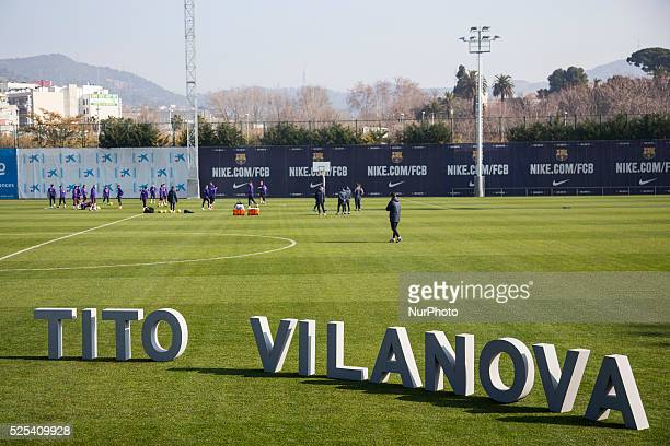 Barcelona Catalonia Spain 2015 February 20 The FC Barcelona opens the training camp in in the FC Barcelona's Sport City as Camp Tito Vilanova the FC...