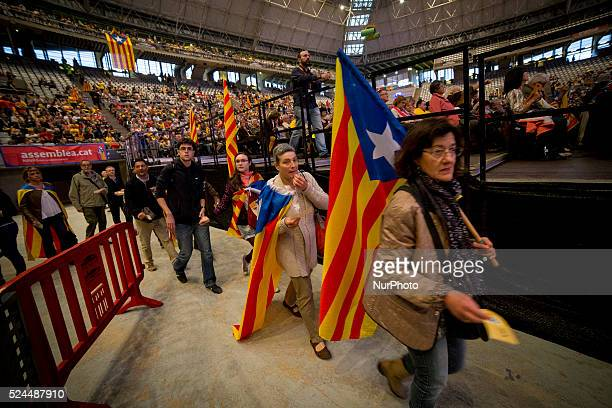 BArcelona Catalonia Spain April 24 Organised by Catalan National Assembly over 17000 proindependece activist full the Barcelona's Palau Sant Jordi...