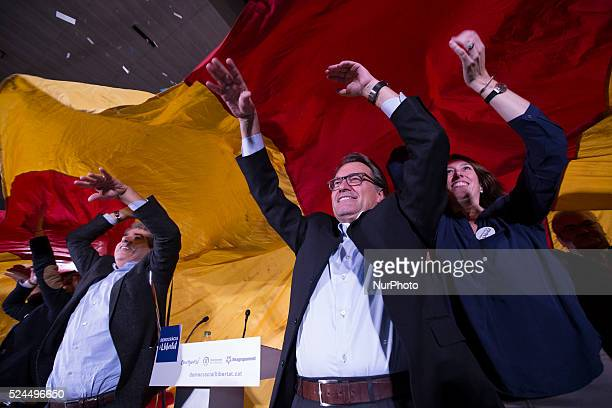 Barcelona Catalonia Spain Artur Mas president of Catalonia and leader of Democracia i Llibertat coalition during the first meeting of the spanish...
