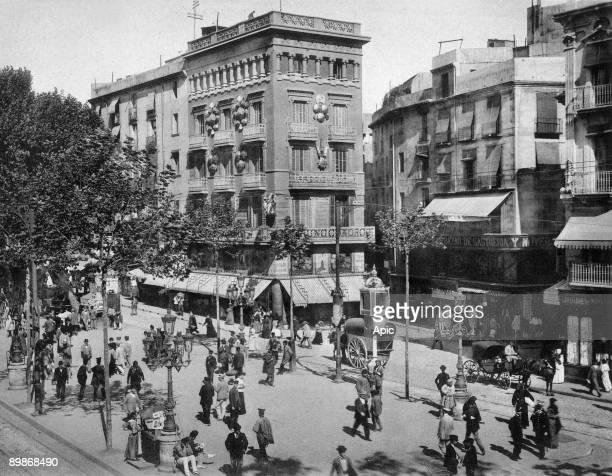 Barcelona Catalonia Spain c 1898 Boqueria