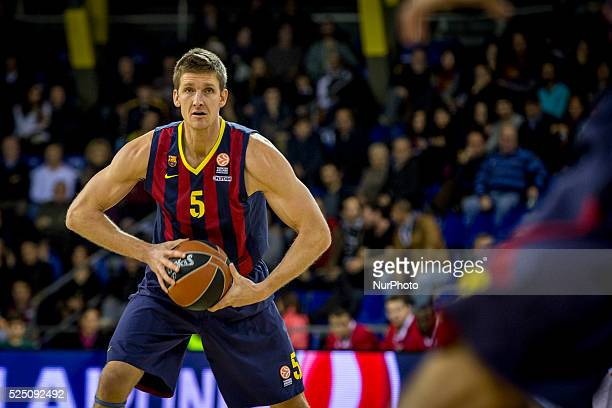 Barcelona Catalonia Spain January 23 2015 Justin Doellman of Barcelona in action during the 20142015 Turkish Airlines Euroleague Group E Top 16 Round...