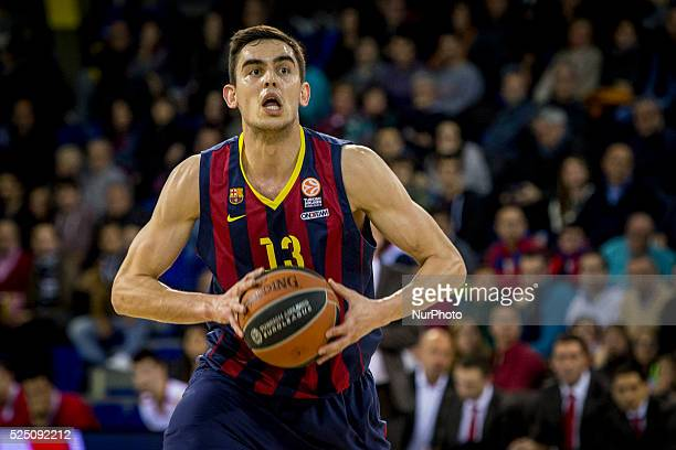 Barcelona Catalonia Spain January 23 2015 Tomas Satoransky of Barcelona in action during the 20142015 Turkish Airlines Euroleague Group E Top 16...