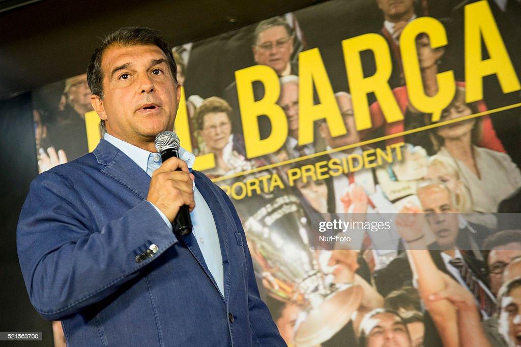 Joan Laporta presented to FC Barcelona elections : News Photo