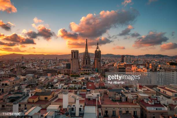 barcelona cathedral - barcelona spain stock pictures, royalty-free photos & images