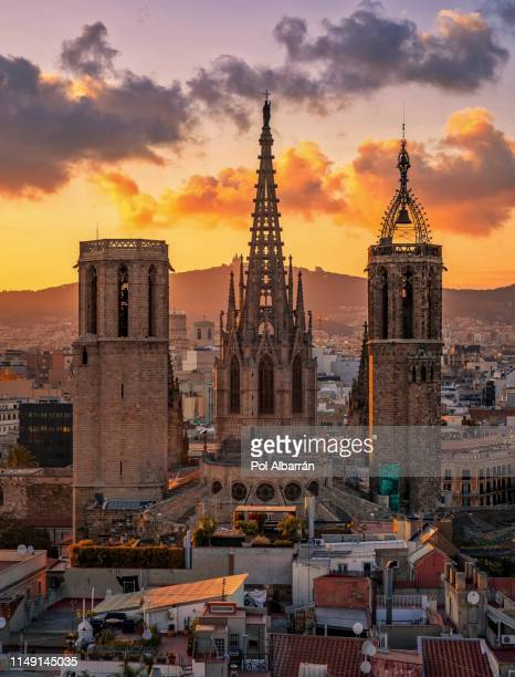 barcelona cathedral - la barceloneta stock pictures, royalty-free photos & images