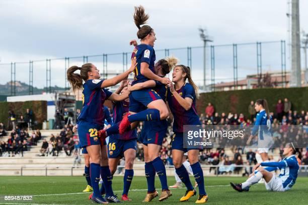 FC Barcelona celebrate a goal Lieke Elisabeth Petronella Martens of FC Barcelona women during the La Liga woman 201718 match between FC Barcelona and...