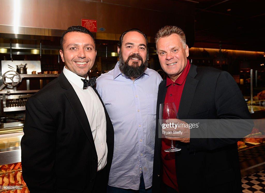 Barcelona CEO Alan Semsar, Matt Dhillon and chef Francois Payard attend the Las Vegas Food & Wine Festival at Bazaar Meat at SLS Las Vegas Hotel on September 15, 2016 in Las Vegas, Nevada.