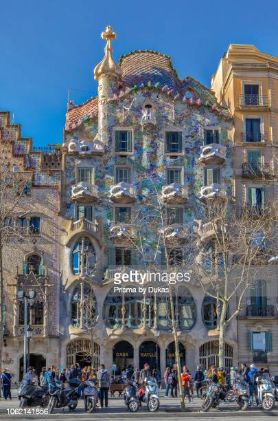 Barcelona City Casa Batllo Gaudi architect Spain