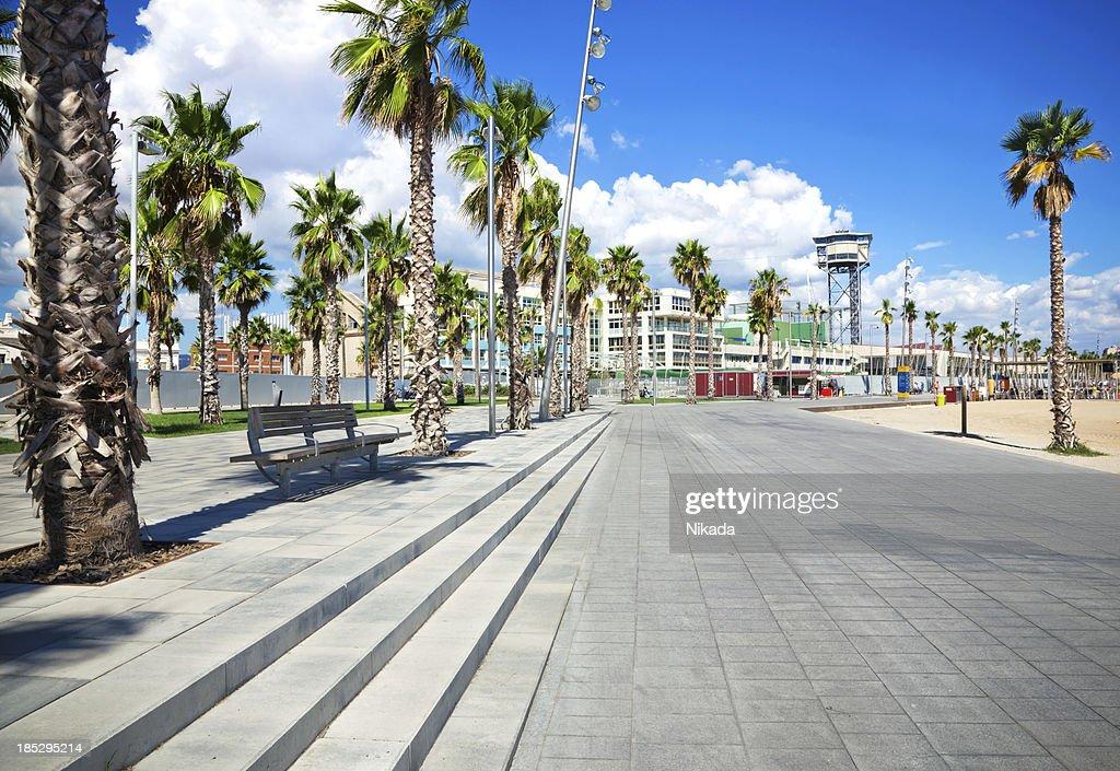 Barcelona Coastline : Stock Photo