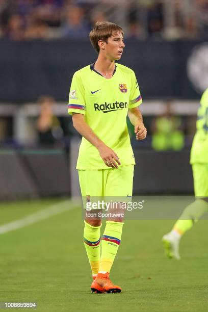 Barcelona defender Juan Miranda during the International Champions Cup between FC Barcelona and AS Roma on July 31 2018 at ATT Stadium in Arlington TX