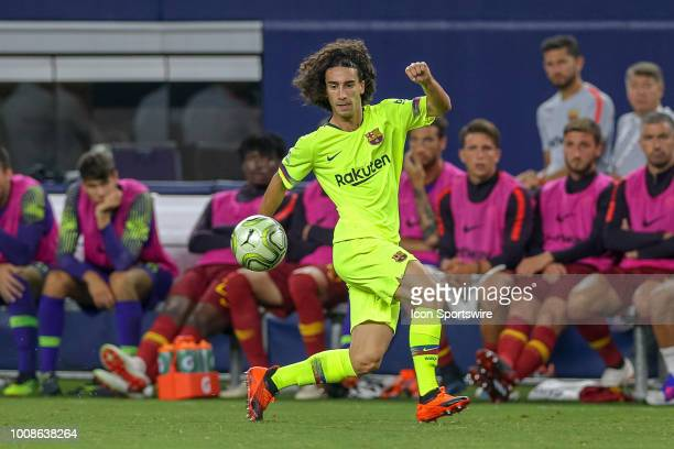 Barcelona defender Marc Cucurella prepares to receive a pass during the International Champions Cup between FC Barcelona and AS Roma on July 31 2018...