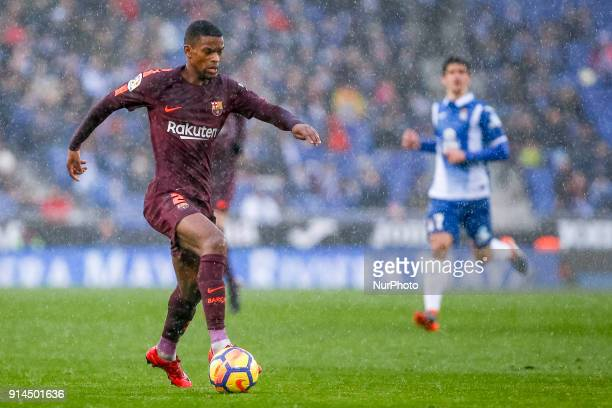 FC Barcelona defender Nelson Semedo during the match between RCD Espanyol vs FC Barcelona for the round 22 of the Liga Santander played at Cornella...