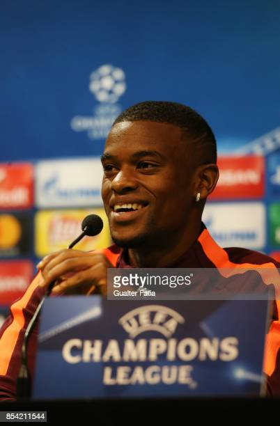 Barcelona defender Nelson Semedo during the UEFA Champions League FC Barcelona Training and Press Conference at Estadio Jose Alvalade on September 26...
