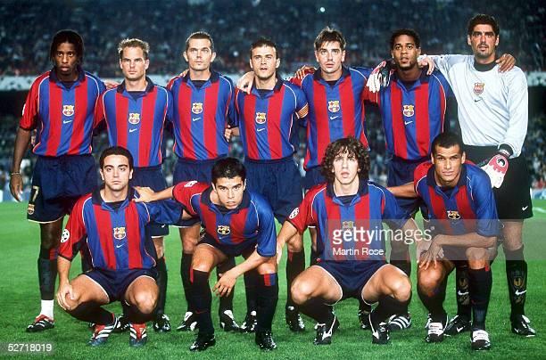 LEAGUE 01/02 Barcelona FC BARCELONA BAYER 04 LEVERKUSEN 21 TEAM BARCELONA hinten vl Philippe CHRISTANVAL Frank DE BOER Phillip COCU LUIS ENRIQUE...