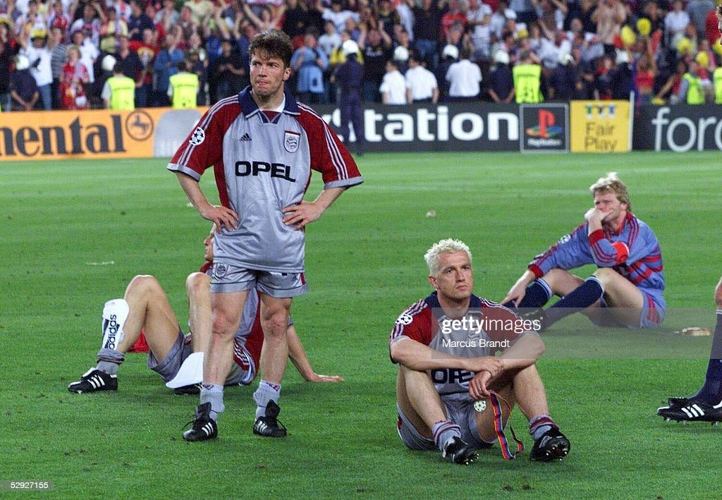 CHAMPIONS LEAGUE 98/99 FINALE, BAYERN - MANCHESTER 1:2 : News Photo