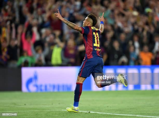Barcelona - FC Bayern Muenchen Torjubel: Neymar