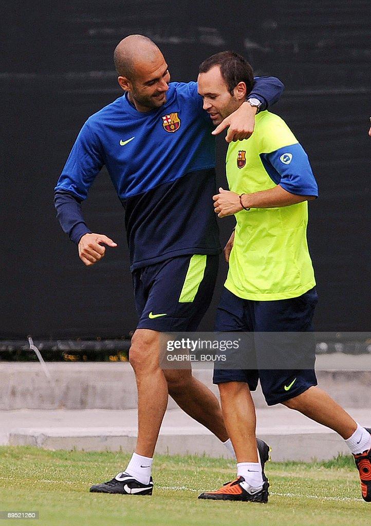 Barcelona FC head coach Josep Guardiola : News Photo