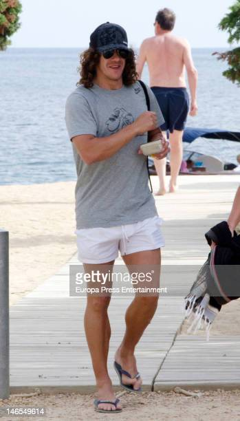 Barcelona fooball player Carles Puyol is seen on June 18 2012 in Ibiza Spain