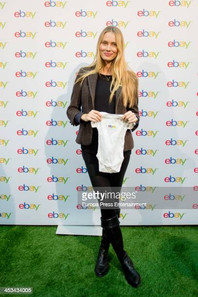 Barcelona fooball player Carles Puyol's girlfriend the model Vanessa Lorenzo several months pregnant presents 'Christmas at Ebay' on December 3 2013...