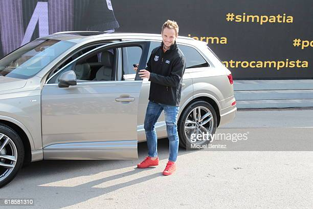 Barcelona Football Club player Ivan Rakitic attends the presentation of Barcelona Football Club's players receive new cars made by Audi at the Camp...
