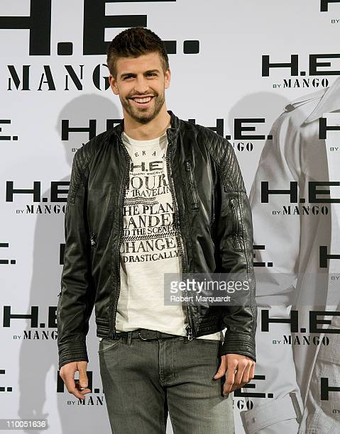 Barcelona football player Gerard Pique attends a presentation by MANGO as the new face of 'He by Mango' campaign for Spring/Summer 2011 at the Casa...