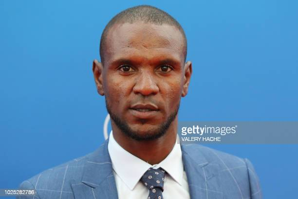 FC Barcelona French Sporting director Eric Abidal arrives to attend the draw for UEFA Champions League football tournament at The Grimaldi Forum in...