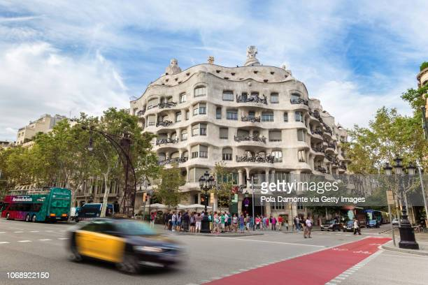 Barcelona Gaudi's La Pedrera or Casa Milà iconic house in Spain