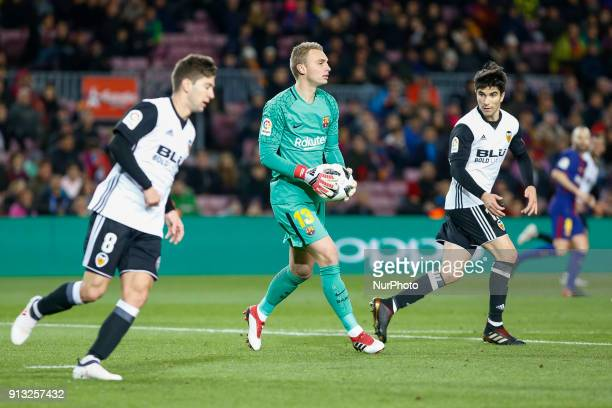 Barcelona goalkeeper Jasper Cillessen during the match between FC Barcelona vs Valencia of the Spanish King's Cup Semi Final played at Camp Nou...