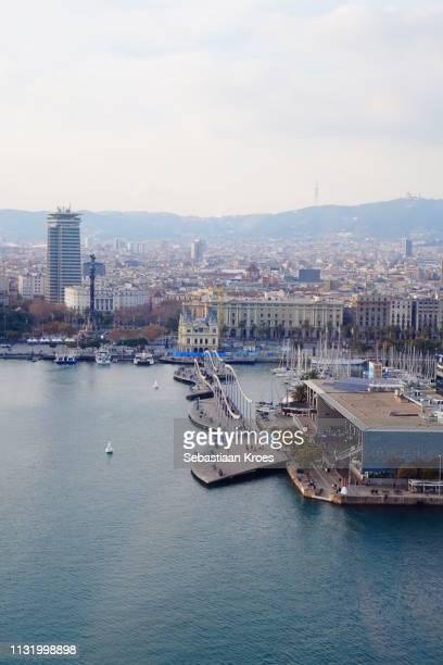 Barcelona Harbour with Maremagnum Shopping, Urban Skyline, Barcelona, Spain