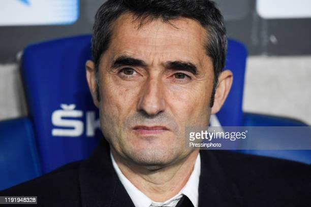 Barcelona head coach Ernesto Valverde during the Liga match between Espanyol and Barcelona on January 4, 2020 in Barcelona, Spain.