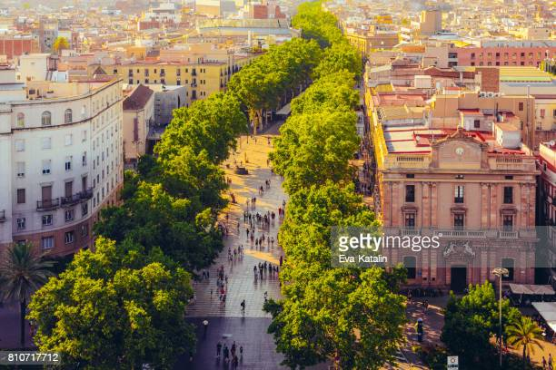 barcelona, la rambla - barcelona spain stock pictures, royalty-free photos & images