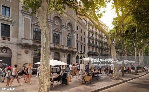 barcelona, la rambla. - the ramblas stock pictures, royalty-free photos & images