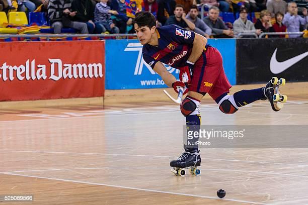 FC Barcelona Lassa vs HC Liceo corresponding to the rink hockey spanish league januany 09 2016